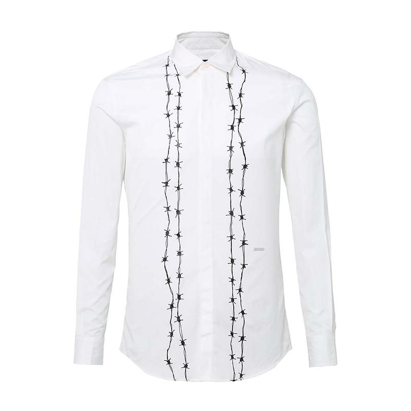 D SQUARED2男士白色系长袖衬衫S71DL0903S36275100