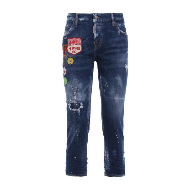 D SQUARED2女士蓝色系牛仔裤S75LA0988S30342470